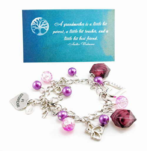 #1 Grandma Handstamped Dangle Bracelet DF20-4009JD