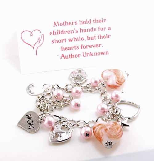 Hand Stamped Mom Bracelet | Personalized Mom Jewelry