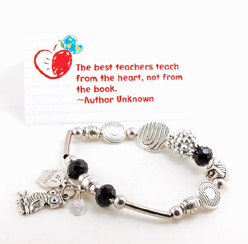 Personalized Teacher Bracelet | Personalized Teacher Gifts