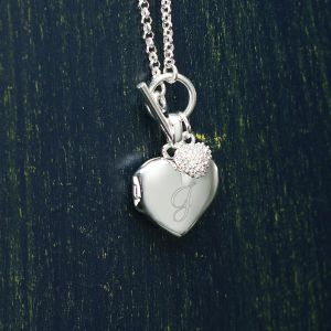 Engraved Heart Locket
