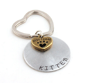 Best Furry Friends Hand Stamped Key Chain