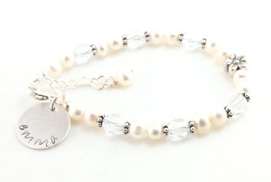 Personalized Flower Girl Bracelet DKBFLWGRL