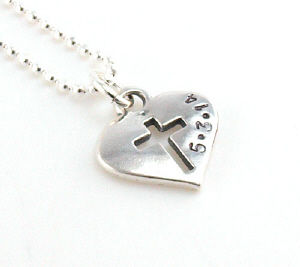 Cross My Heart Dated Necklace