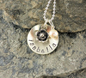 Personalized Flower Girl Necklace