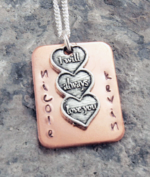 I Will Always Love You Hand Stamped Necklace