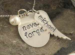 Never Forget Hand Stamped Necklace