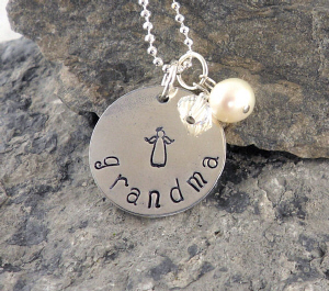 Sweet Angel Hand Stamped Necklace