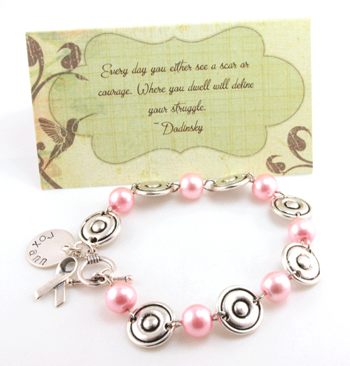 Personalized Breast Cancer Awareness Bracelet DPHJB00372-B
