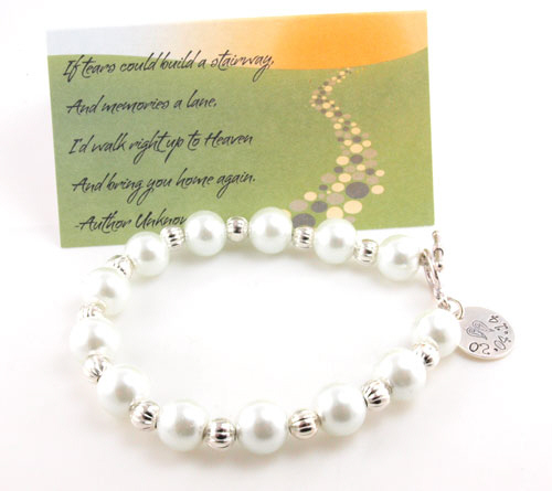 Angel Wings Hand Stamped Bracelet DPHJB00612-A