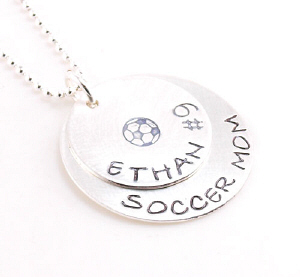 Personalized Sports Pendant Necklace DKSPRTMOM