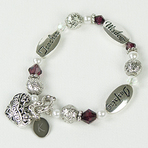 Engraved Teacher Bracelet J316537
