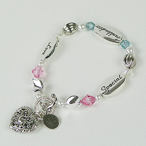 Engraved Granddaughter Bracelet | Personalized Jewelry