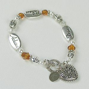 Engraved Dream Believe Acheive Bracelet J316540