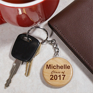 Engraved Class Of Wood Round Key Chain KC66230