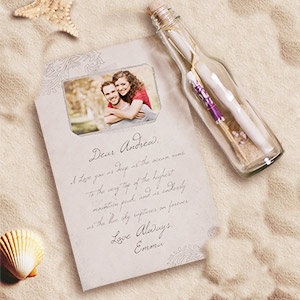 Personalized Photo Message In A Bottle | Valentine Keepsake Gifts