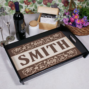 Family Welcome Personalized Serving Tray