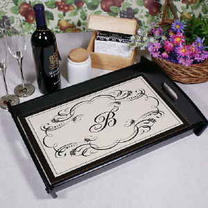 Custom Initial Serving Tray