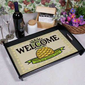 Personalized Pineapple Serving Tray