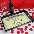 Just Married Personalized Serving Tray