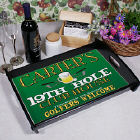 19th Hole Personalized Serving Tray