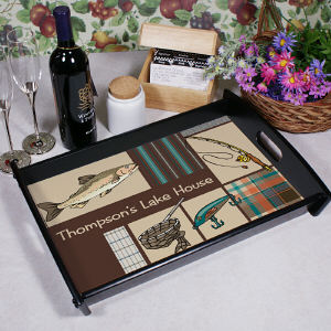 Personalized Fisherman Serving Tray