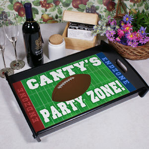 Personalized Football Party Serving Tray
