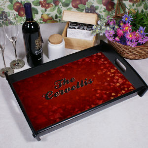 Personalized Hearts Valentine's Day Serving Tray