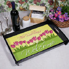 Spring Tulips Personalized Serving Tray