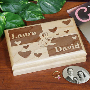 Engraved Couples Valet Box