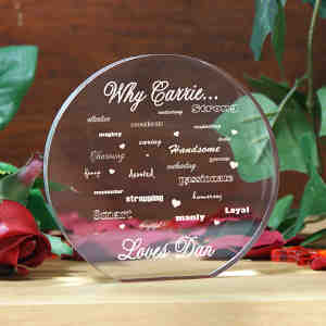Engraved Why I Love You Round Keepsake