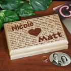 Engraved I Love You Valet Box 726385