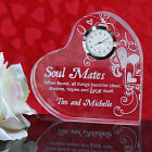 Engraved Soul Mates Heart Clock