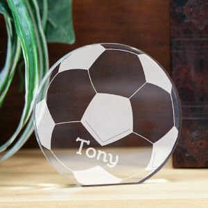 Engraved Soccer Keepsake