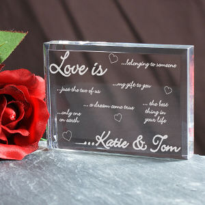 Engraved Love Is...Keepsake