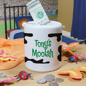 Personalized Moolah Coin Jar