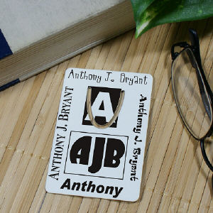 My Initial Personalized Bookmark