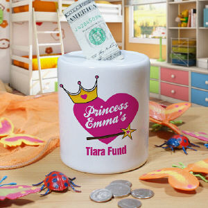 Personalized Tiara Fund Jar U35506