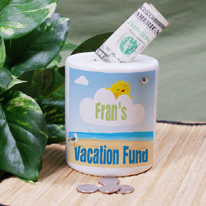 Personalized Vacation Fund Jar | Personalized Gifts