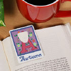 Floral Initial Personalized Bookmark