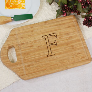 Monogrammed Bamboo Cheese Cutting Carving Board