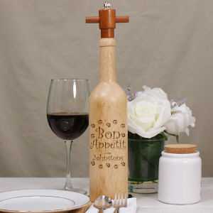 Engraved Bon Appetit Pepper Mill