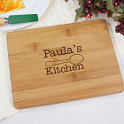 Engraved Kitchen Bamboo Cheese Board