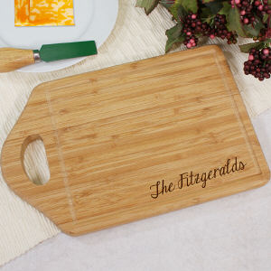 Engraved Bamboo Cheese Carving Board