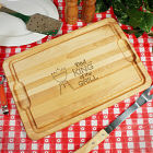 Engraved King of the Grill Carving Board with Juice Well