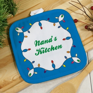Personalized Christmas Lights Pot Holder
