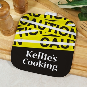Personalized Caution Pot Holder U617342