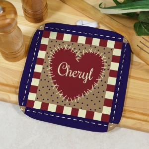 Personalized Shabby Chic Pot Holder