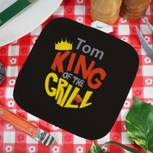 Personalized King of the Grill Hot Pad | Barbecue Gifts For Dad