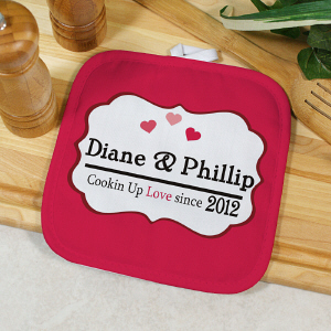 Personalized Cookin' Up Love Pot Holder