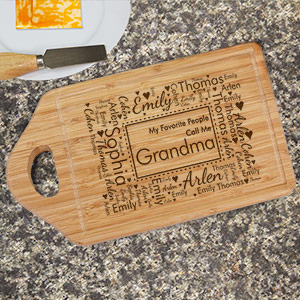 Engraved Established In Bamboo Cheese Carving Board | Personalized Gifts for Grandma